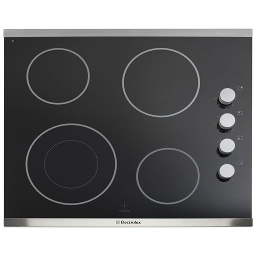 "Electrolux Urban EI24EC15KS 24"" Smooth Top Electric Cooktop - Black with Stainless Steel Trim - Cooktop - Electrolux Urban - Topchoice Electronics"