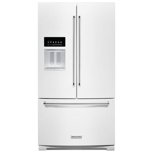 "KitchenAid 36"" 26.8 Cu. Ft. French Door Refrigerator with Water & Ice Dispenser - Refrigerator - KitchenAid - Topchoice Electronics"
