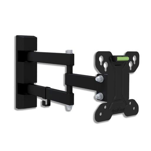 QualGear QG-TM-007-BLK 13-Inch to 27-Inch Universal Low Profile Full Motion TV Wall Mount LED TVs, Black