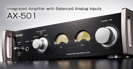 Teac Integrated Amplifier with balance analog input - AX-501 Black