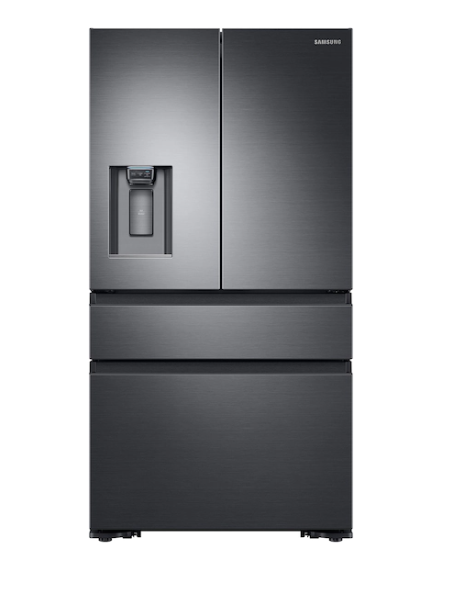 Samsung RF23M8070SG/AA 23 cu. ft. Counter Depth 4-Door French Door Refrigerator in Black Stainless Steel