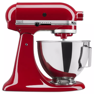 KitchenAid KSM85PBER 4.5-Quart Tilt-Head Stand Mixer In Empire Red