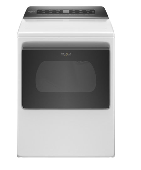 Whirlpool YWED6120HW 7.4 Cu. Ft. Smart Front-Load Electric Dryer In White