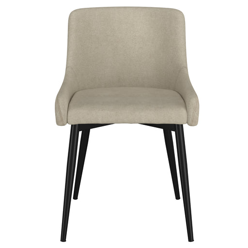 Inspire 202-086BG/BK Bianca Side Chair, set of 2 in Beige with Black Leg