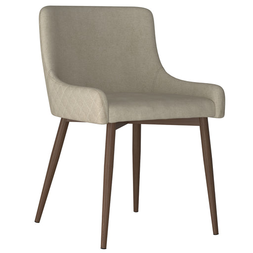 Inspire 202-086BG/WAL Bianca Side Chair, set of 2 in Beige with Walnut Leg