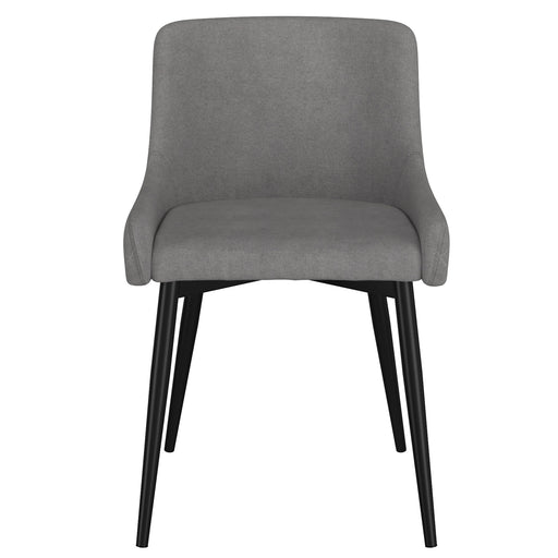 Inspire 202-086GY/BK Bianca Side Chair, set of 2 in Grey with Black Leg