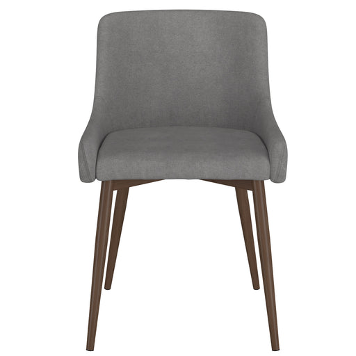 Inspire 202-086GY/WAL Bianca Side Chair, set of 2 in Grey with Walnut Leg