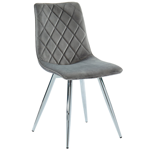 Inspire 202-110GY Marlo Side Chair, set of 2 in Grey