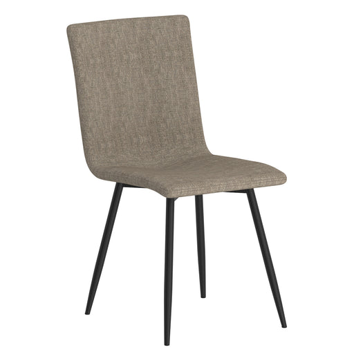 Worldwide 202-538GRY/BK Nora Side Chair, Set Of 4 In Grey With Black Leg