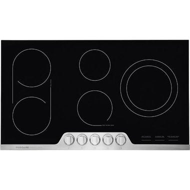 Frigidaire Professional FPEC3677RF 36'' Electric Cooktop - Stainless Steel - Smudge Proof - Cooktop - Frigidaire Professional - Topchoice Electronics