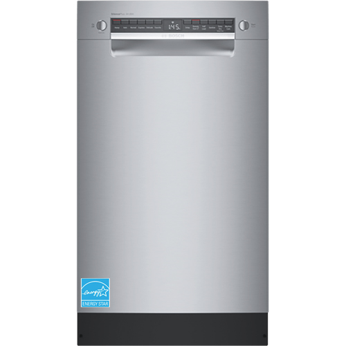 BOSCH SPE68B55UC 800 Series 44 DBA Smart Front Control AquaStop Plus Dishwasher In Stainless Steel