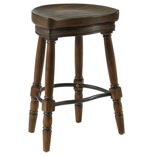 Worldwide 203-290RK Montana 26 Inch Counter Stool In Rustic Oak (Each)