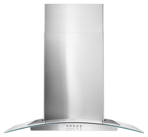 "Whirlpool WVW51UC0FS 30"" Concave Glass Wall Mount Range Hood in Stainless steel"