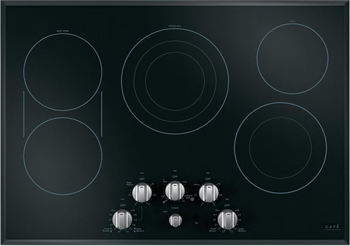 GE Café™ CEP70302MS1 30-Inch Built-In Knob Control Electric Cooktop In Black