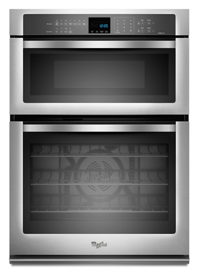 Whirlpool 30 Inch Microwave Combination Wall Oven in Stainless Steel