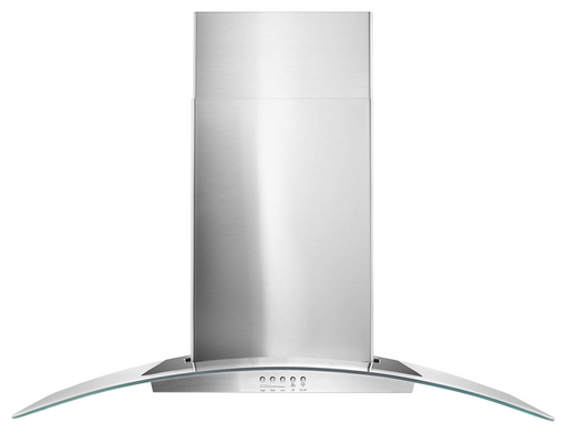 "Whirlpool WVW51UC6FS 36"" Concave Glass Wall Mount Range Hood in Stainless Steel"