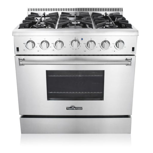 Thor Kitchen 36″ Pro-style 6 Stainless Steel Burner Gas Range HRG3618U with 2 year warranty on parts and labor