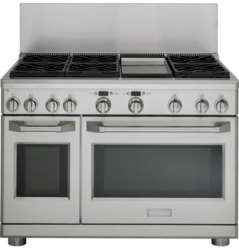 Monogram ZX12B48PSS 12-Inch High Stainless Steel Backsplash