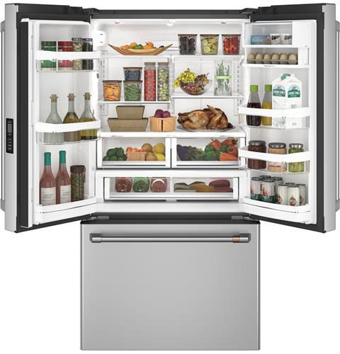 GE Cafe CWE23SP2MS1 36-Inch 23.1 Cu. Ft. Counter-Depth French Door Refrigerator in Stainless Steel