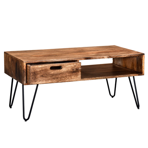 Inspire 301-137NT Jaydo Coffee Table In Natural Burnt