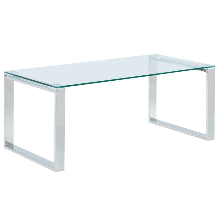 Inspire 301-408CH Zevon Coffee Table in Silver (Each)