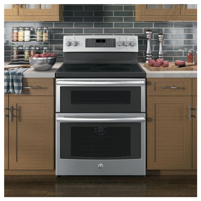 GE JCB865SJSS 6.6 cu. ft. Free-Standing Double Oven Electric Range in Stainless Steel - Range - GE - Topchoice Electronics
