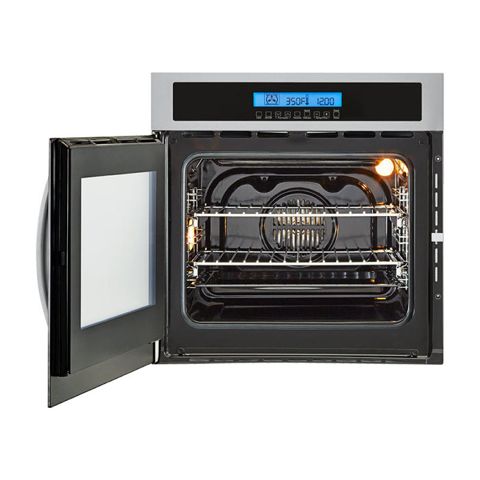 Haier 24 inch Single Oven Convection Left Swing Door - Wall Oven - HAIER - Topchoice Electronics