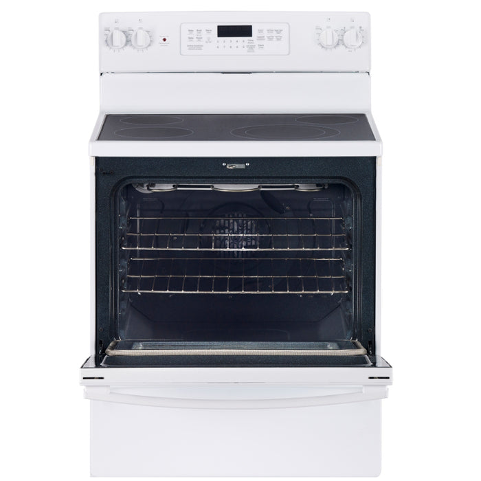 "GE 30"" 5.0 Cu. Ft. Self-Clean Convection Freestanding Smooth Top Electric Range - Range - GE - Topchoice Electronics"