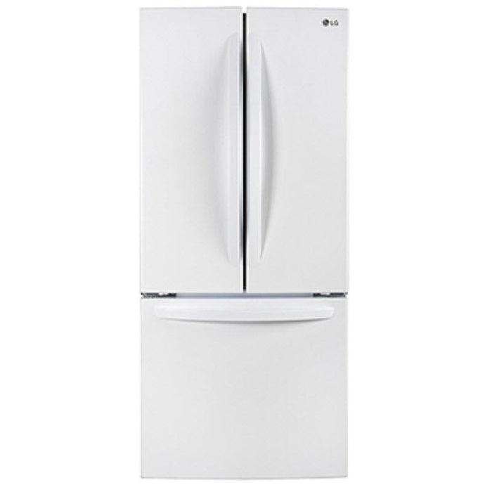 LG LFNS22520W 30-Inch 22 Cu. Ft. French Door Refrigerator with Smart Cooling System in White