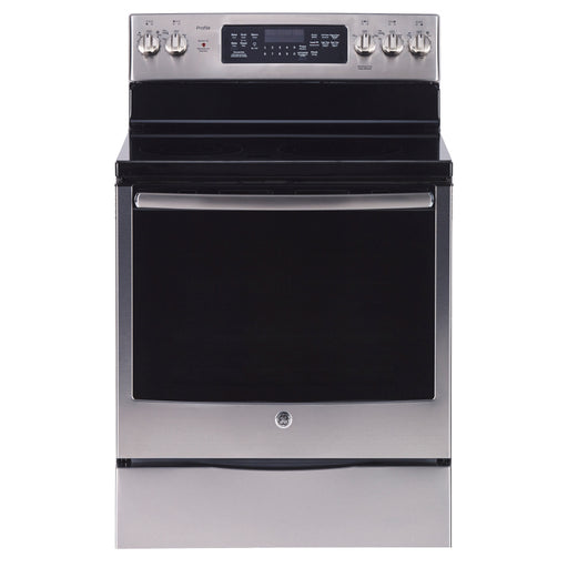 "GE Profile PCB905SKSS 30"" freestanding electric range in Stainless Steel - Range - Topchoice Electronics - Topchoice Electronics"