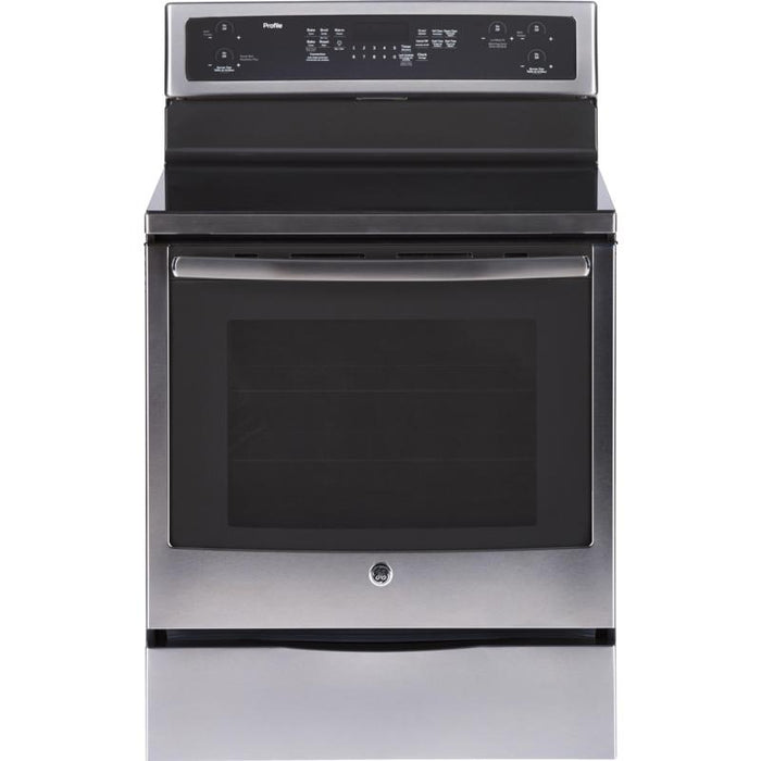 GE PCB915SKSS 6.2 Cu. Ft. Freestanding Electric Range in Stainless Steel - Range - Topchoice Electronics - Topchoice Electronics