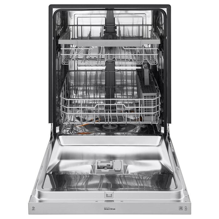LG LDF5545ST 24-Inch Front Control Dishwasher With QuadWash And EasyRack Plus In Stainless Steel