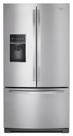 Whirlpool WRF767SDEM 36-inch Wide French Door Bottom Freezer Refrigerator with Dual Icemakers in Stainless Steel
