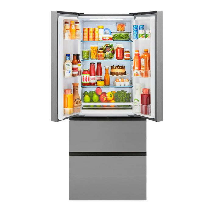 Haier 33 inch wide Quad Door Bottom Mount Refrigerator - Refrigerator - HAIER - Topchoice Electronics