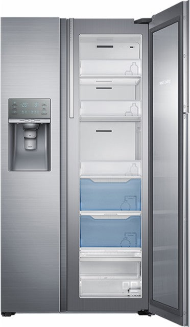 Samsung RH22H9010SR/AA 21.5 cu.ft Side-by-Side Refrigerator with Food Showcase - Stainless Steel - Refrigerator - Samsung - Topchoice Electronics