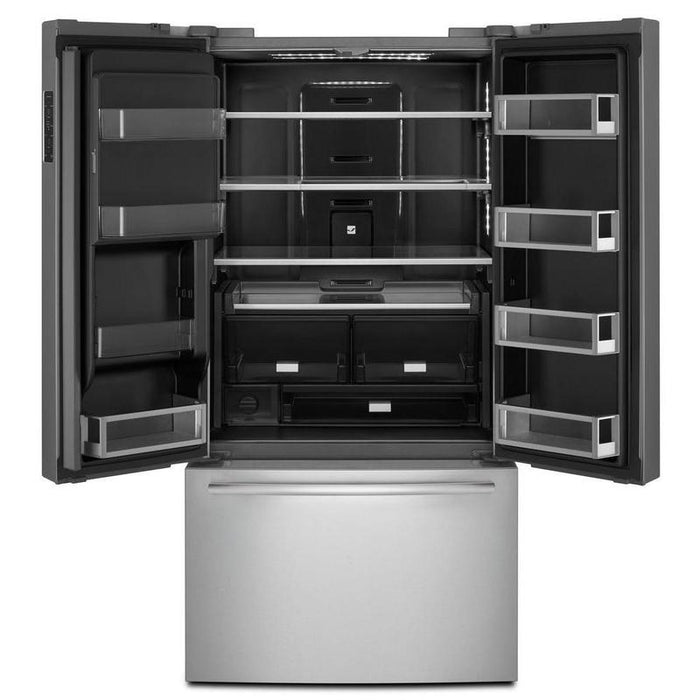 "Jenn-Air JFFCC72EFP 72"" Counter-Depth French Door Refrigerator with Obsidian Interior - Pro Style Stainless Steel - Refrigerator - Jenn-Air - Topchoice Electronics"