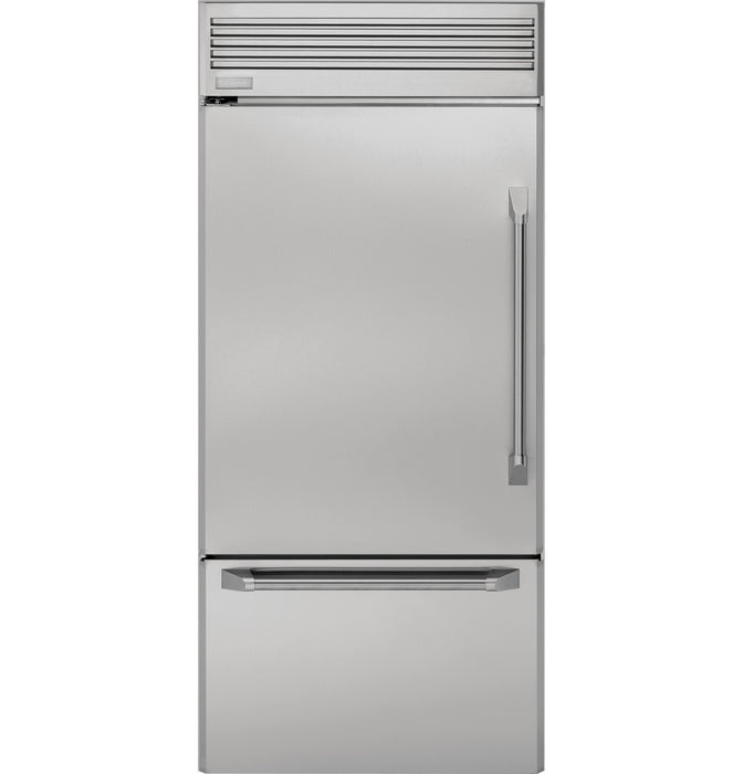 Monogram ZICP360NHLH 36 Inch Built-In Counter-Depth Bottom-Freezer Refrigerator in Stainless Steel - Refrigerator - Monogram - Topchoice Electronics