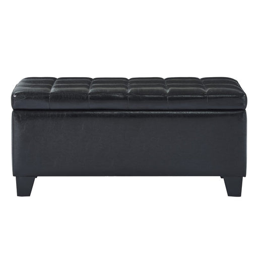Worldwide 402-257BK Winston Storage Ottoman in Black (Each)