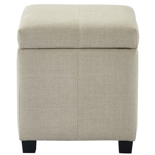 Worldwide Juno 402-350BEG Square Storage Ottoman In Beige