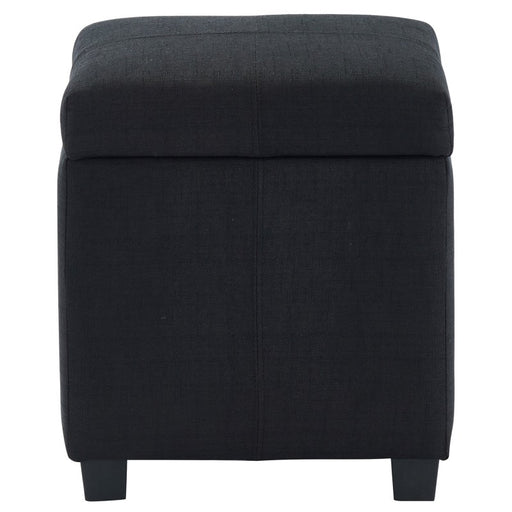 Worldwide 402-350BLK Juno Storage Ottoman in Black (Each)