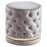 Inspire Delilah 402-609GY/GL Round Swivel Ottoman In Grey/Gold