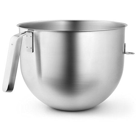 KitchenAid KSMC7QBOWL 7 Quart NSF Certified Polished Stainless Steel Bowl with J Hook Handle - Parts and Accessories - KitchenAid - Topchoice Electronics