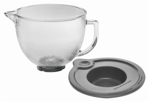 KitchenAid K5GBH 5-Qt. Tilt-Head Hammered Glass Bowl with Lid