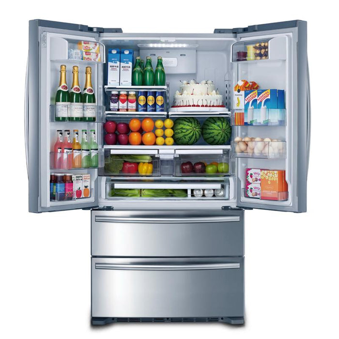 MOFFAT MWS21FSKSS 36-INCH, 20.8 CU.FT. COUNTER-DEPTH FRENCH 4-DOOR REFRIGERATOR - Stainless Steel - Refrigerator - MOFFAT - Topchoice Electronics