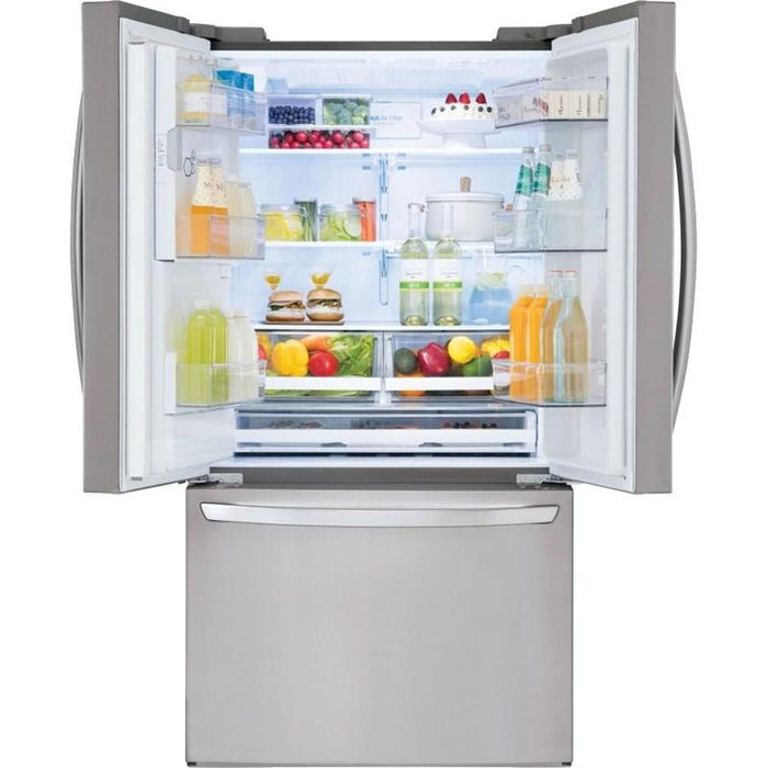 LG LFXS28968S 28 Cu. Ft. Smart Wi-Fi Enabled French Door Refrigerator in Stainless Steel