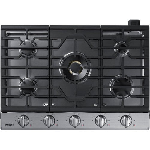 Samsung 30 Inch 5-Burner Gas Cooktop with 22K BTU True Dual Power Burner