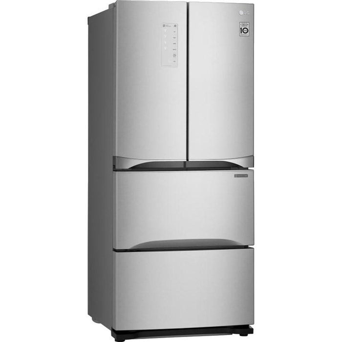 LG LMNS14420V 14.3 Cu. Ft. Kimchi/Specialty Food French Door Refrigerator in Platinum Silver