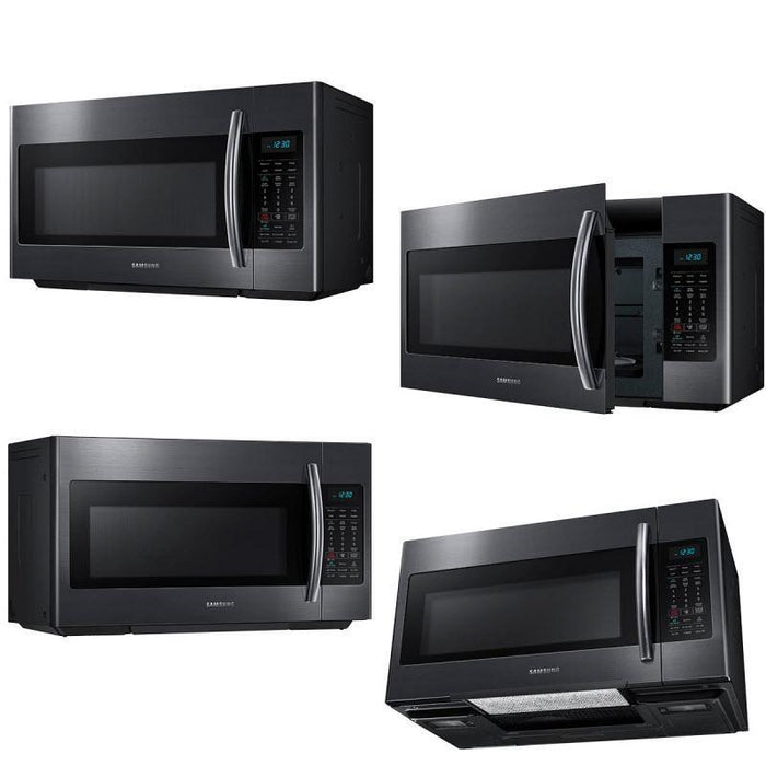 Samsung ME18H704SFG/AC 1.8 Cu. Ft. Over-the-Range Microwave in Black Stainless Steel