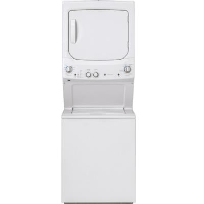 GE GUD24ESMMWW Unitized Spacemaker Washer and Electric Dryer - White - Laundry Pair - GE - Topchoice Electronics