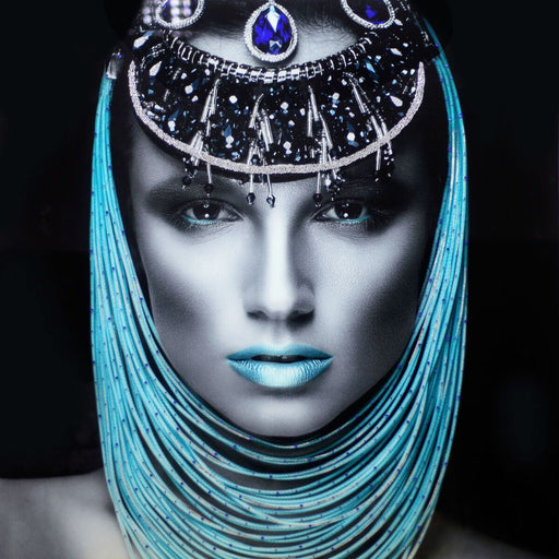 Temp Glass w/Foil & Rhinestones – Lady Pharaoh -SF1430R